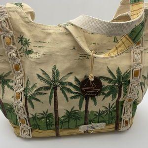 PAUL BRENT costal life palm tree large beach bag